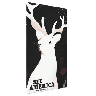 See America Fly international Stag vacation poster Canvas Print