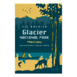 See America - Glacier National Park Travel Poster