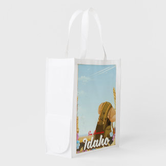 See America - Idaho Backpacking travel poster Reusable Grocery Bag