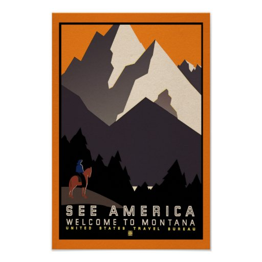 See America - Montana Vintage Travel Poster