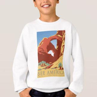 See America Poster Sweatshirt