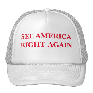 SEE AMERICA RIGHT AGAIN CAP