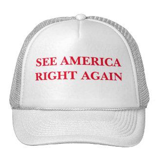 SEE AMERICA RIGHT AGAIN CAP