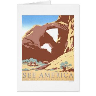 See America Travel 1939 WPA Greeting Card