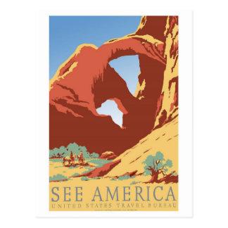See America Vintage Postcard