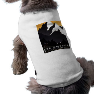 See America Welcome to Montana Pet T Shirt