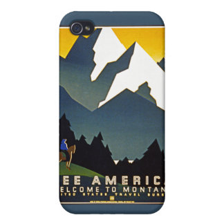 See America - Welcome to Montana iPhone 4 Cases