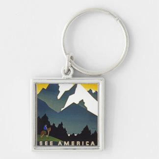 See America - Welcome to Montana Keychain