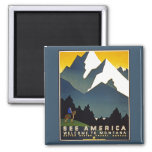 See America - Welcome to Montana Square Magnet