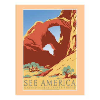 See America WPA Vintage Travel Poster Post Cards