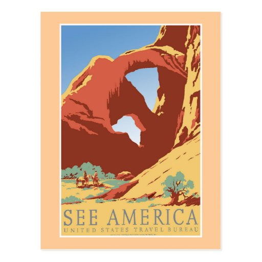 """""""See America WPA Vintage Travel Poster"""" Post Cards"""