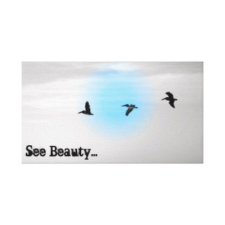 see beauty canvas beach print