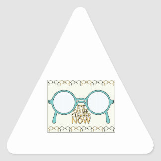 See Clearer Now Triangle Sticker