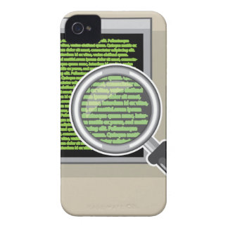 See code through magnifying glass Case-Mate iPhone 4 cases