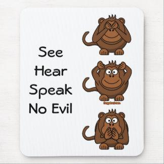 See Hear Speak No Evil Monkeys, SeeHearSpeakNo ... Mouse Mat