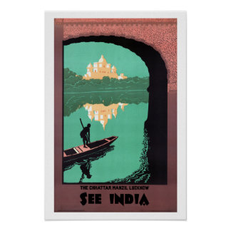 See India Chattar Manzil - Vintage Travel Poster