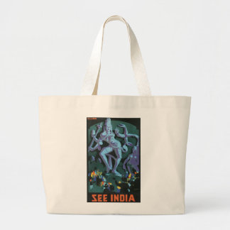 See India - Ellora Tote Bags