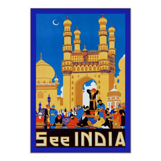 See India ~ Hyderabad ~ Vintage Travel Poster