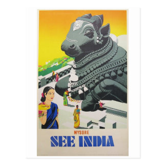 See India Postcard from Vintage Poster