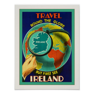 See Ireland Vintage Irish Travel Poster