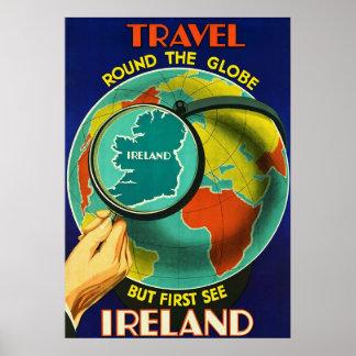 See Ireland ~Vintage Irish Travel Poster. Poster