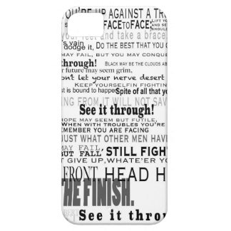 See it Through Inspirational Cellphone HardCase iPhone 5 Cover