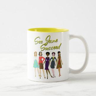 See Jane Succeed! Two-Tone Coffee Mug