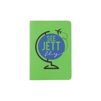 See Jett Fly - Passport Cover (Green)