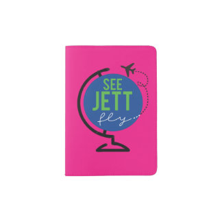 See Jett Fly - Passport Cover (Pink)