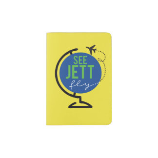 See Jett Fly - Passport Cover (Yellow)