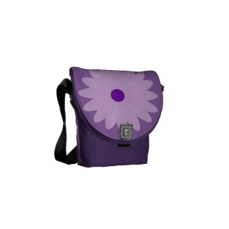See me Purple Daisy Messenger Bag