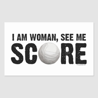 See Me Score - Volleyball Sticker
