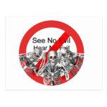 See no evil, hear no evil, speak no evil -- Not. Postcards