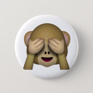 See No Evil Monkey - Emoji 6 Cm Round Badge