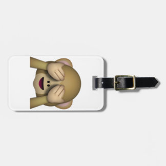 See No Evil Monkey - Emoji Luggage Tag