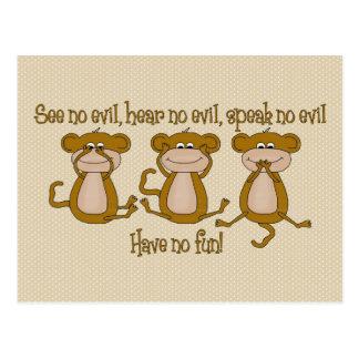 See No Evil Postcard