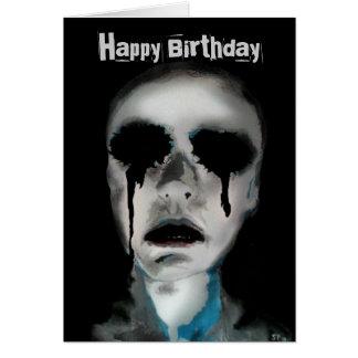 'See No Evil' print on a Birthday Card