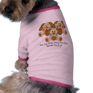 See No Evil Puppies Dog Shirt