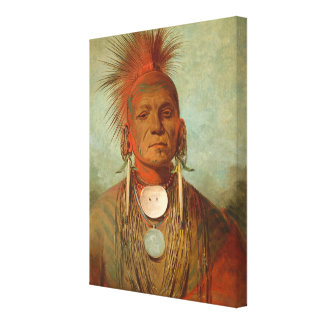 See-non-ty-a, an Iowa Medicine Man, 1844 Canvas Print