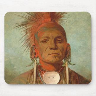 See-non-ty-a, an Iowa Medicine Man, 1844 Mouse Mat
