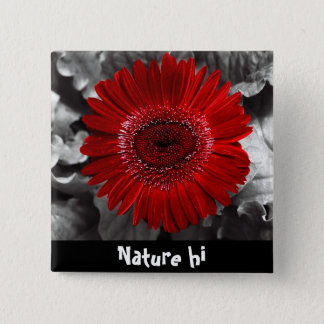 see red 15 cm square badge