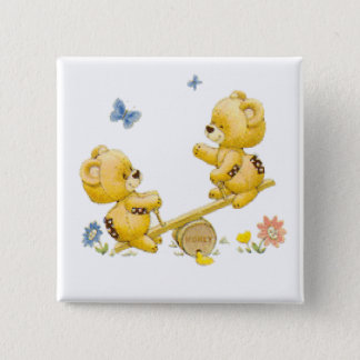 See Saw Bears 15 Cm Square Badge