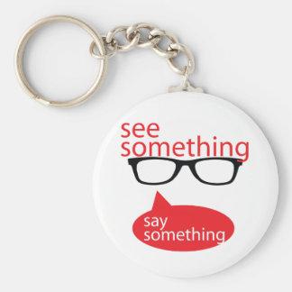 See Something Say Something Basic Round Button Key Ring