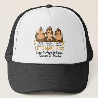 See Speak Hear No Appendix Cancer 2 Trucker Hat