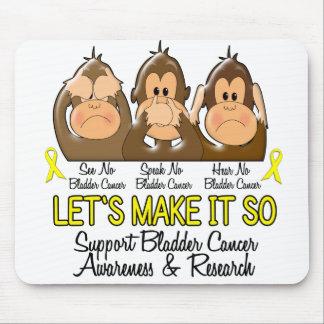 See Speak Hear No Bladder Cancer 2 Mouse Pads