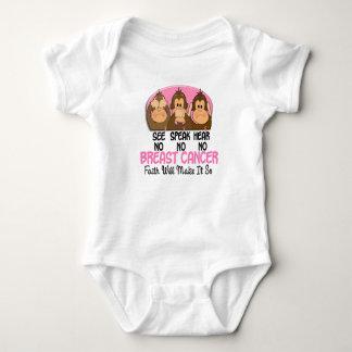 See Speak Hear No Breast Cancer 1 Baby Bodysuit