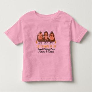 See Speak Hear No Childhood Cancer 2 Toddler T-Shirt