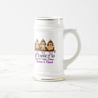 See Speak Hear No Crohns Disease 2 Coffee Mugs