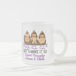 See Speak Hear No Fibromyalgia 2 Frosted Glass Mug