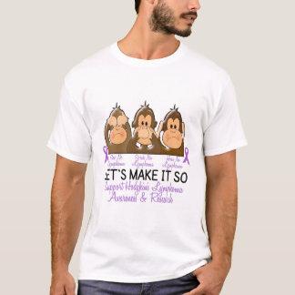 See Speak Hear No Hodgkins Lymphoma 2 T-Shirt